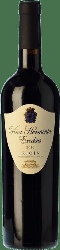 6,95 € Envío gratis | Vino tinto Viña Herminia Excelsus Joven D.O.Ca. Rioja La Rioja España Tempranillo, Garnacha Botella 75 cl