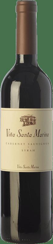 9,95 € Envío gratis | Vino tinto Santa Marina Crianza I.G.P. Vino de la Tierra de Extremadura Extremadura España Syrah, Cabernet Sauvignon Botella 75 cl