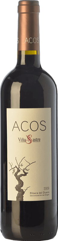 48,95 € Envío gratis | Vino tinto Viña Sastre Acos Crianza 2009 D.O. Ribera del Duero Castilla y León España Tempranillo Botella 75 cl