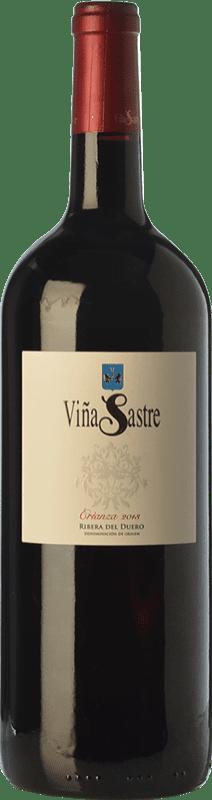 39,95 € Kostenloser Versand | Rotwein Viña Sastre Crianza D.O. Ribera del Duero Kastilien und León Spanien Tempranillo Magnum-Flasche 1,5 L
