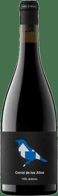 9,95 € Envío gratis | Vino tinto Viña Zorzal Corral de los Altos Crianza D.O. Navarra Navarra España Garnacha Botella 75 cl