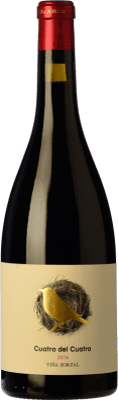 18,95 € Kostenloser Versand | Rotwein Viña Zorzal Cuatro del Cuatro Crianza D.O. Navarra Navarra Spanien Graciano Flasche 75 cl
