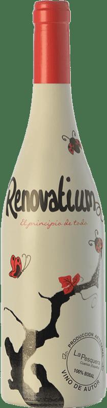 6,95 € Envío gratis | Vino tinto Viñas del Cabriel Renovatium Crianza I.G.P. Vino de la Tierra de Castilla Castilla la Mancha España Tempranillo, Syrah Botella 75 cl
