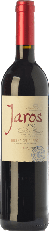 13,95 € Envoi gratuit | Vin rouge Viñas del Jaro Jaros Crianza D.O. Ribera del Duero Castille et Leon Espagne Tempranillo, Merlot, Cabernet Sauvignon Bouteille 75 cl