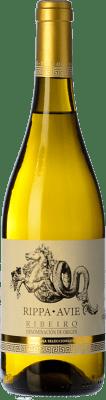 8,95 € Envío gratis | Vino blanco Viñedos de Altura Rippa Avie D.O. Ribeiro Galicia España Torrontés, Godello, Treixadura Botella 75 cl