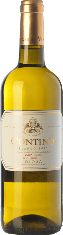 29,95 € Envoi gratuit | Vin blanc Viñedos del Contino Crianza D.O.Ca. Rioja La Rioja Espagne Viura, Malvasía, Grenache Blanc Bouteille 75 cl