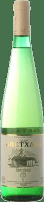 7,95 € Envío gratis | Vino blanco Virgen de Lorea Txakoli Aretxaga D.O. Bizkaiko Txakolina País Vasco España Hondarribi Zuri, Follec Blanca Botella 75 cl