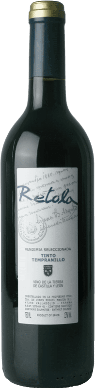 5,95 € Free Shipping | Red wine Thesaurus Retola Vendimia Seleccionada Joven I.G.P. Vino de la Tierra de Castilla y León Castilla y León Spain Tempranillo Bottle 75 cl