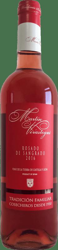 5,95 € Free Shipping | Rosé wine Thesaurus Martín Verástegui Joven I.G.P. Vino de la Tierra de Castilla y León Castilla y León Spain Tempranillo Bottle 75 cl
