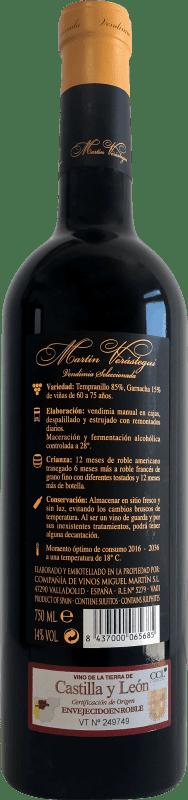 23,95 € Free Shipping | Red wine Thesaurus Martín Verástegui 18 Meses Vendimia Seleccionada Reserva 2006 I.G.P. Vino de la Tierra de Castilla y León Castilla y León Spain Tempranillo, Grenache Bottle 75 cl