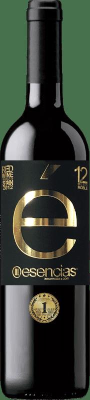 19,95 € 免费送货 | 红酒 Esencias «é» 12 Meses Crianza 2012 I.G.P. Vino de la Tierra de Castilla y León 卡斯蒂利亚莱昂 西班牙 Tempranillo 瓶子 75 cl