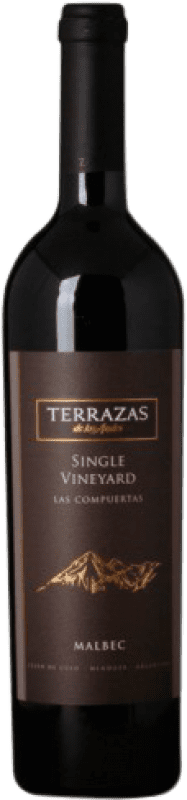 47,95 € Free Shipping | Red wine Terrazas de los Andes Single Vineyard Las Compuertas Argentina Malbec Bottle 75 cl