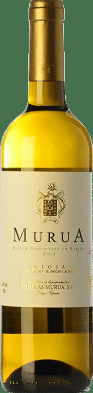 13,95 € Free Shipping | White wine Murua Fermentado en Barrica D.O.Ca. Rioja The Rioja Spain Viura, Malvasía, Grenache White Bottle 75 cl