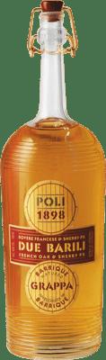 44,95 € Free Shipping | Grappa Poli Due Barili Envejecida 4 Años Bottle 70 cl
