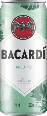 27,95 € Free Shipping | 12 units box Soft Drinks & Mixers Bacardí Mojito Cocktail Lata 25 cl