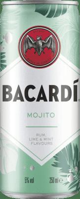 27,95 € Envoi gratuit | Boîte de 12 unités Boissons et Mixers Bacardí Mojito Cocktail Canette 25 cl