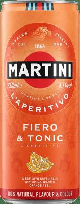 27,95 € Envoi gratuit | Boîte de 12 unités Boissons et Mixers Martini Fiero & Tonic Cocktail Canette 25 cl