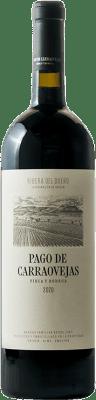 74,95 € Kostenloser Versand | Rotwein Pago de Carraovejas Crianza D.O. Ribera del Duero Kastilien und León Spanien Tempranillo, Merlot, Cabernet Sauvignon Magnum-Flasche 1,5 L