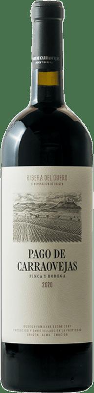 82,95 € Kostenloser Versand | Rotwein Pago de Carraovejas Crianza D.O. Ribera del Duero Kastilien und León Spanien Tempranillo, Merlot, Cabernet Sauvignon Magnum-Flasche 1,5 L