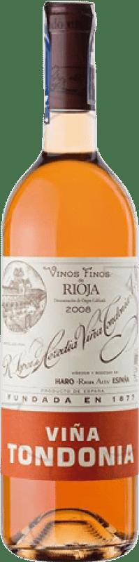 39,95 € Free Shipping | Rosé wine López de Heredia Viña Tondonia Gran Reserva D.O.Ca. Rioja The Rioja Spain Tempranillo, Grenache, Macabeo Bottle 75 cl