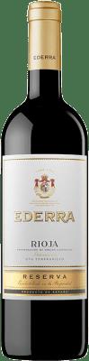 9,95 € Envoi gratuit | Vin rouge Bodegas Bilbaínas Ederra Reserva D.O.Ca. Rioja La Rioja Espagne Tempranillo, Grenache, Mazuelo, Carignan Bouteille 75 cl