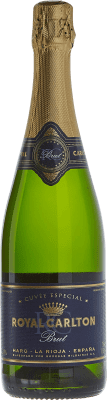 9,95 € Free Shipping | White sparkling Bodegas Bilbaínas Royal Carlton Brut Nature Reserva D.O. Cava Catalonia Spain Malvasía, Macabeo Bottle 75 cl