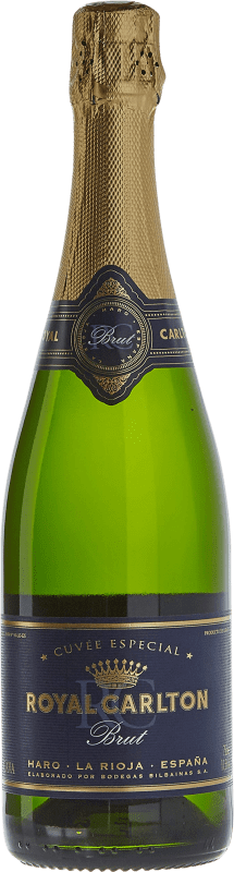 12,95 € Free Shipping | White sparkling Bodegas Bilbaínas Royal Carlton Brut Nature Reserva D.O. Cava Catalonia Spain Malvasía, Macabeo Bottle 75 cl