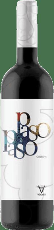 3,95 € Envío gratis | Vino tinto Volver Paso a Paso Joven D.O. La Mancha Castilla la Mancha y Madrid España Tempranillo Botella 75 cl