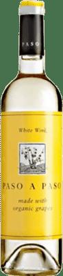4,95 € Kostenloser Versand | Weißwein Volver Paso a Paso Orgánico Joven I.G.P. Vino de la Tierra de Castilla Castilla la Mancha y Madrid Spanien Macabeo, Verdejo Flasche 75 cl