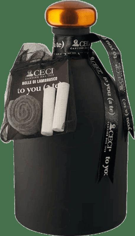 11,95 € Envío gratis | Espumoso tinto Ceci to You D.O.C. Lambrusco di Sorbara Italia Lambrusco Botella 75 cl
