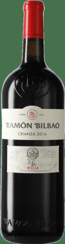 47,95 € Envoi gratuit | Vin rouge Ramón Bilbao Crianza D.O.Ca. Rioja La Rioja Espagne Tempranillo Bouteille Spéciale 5 L