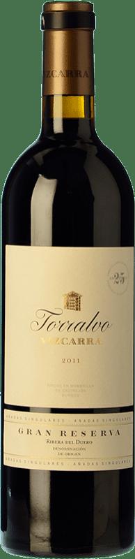 106,95 € Envoi gratuit | Vin rouge Vizcarra Torralvo Gran Reserva D.O. Ribera del Duero Castille et Leon Espagne Tempranillo Bouteille 75 cl