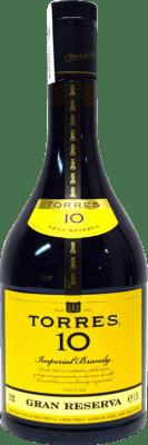 22,95 € Envío gratis | Brandy Torres 10 Años España Botella Mágnum 1,5 L