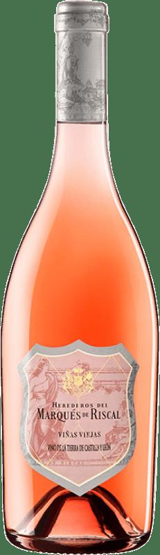 29,95 € Free Shipping | Rosé wine Marqués de Riscal Viñas Viejas Joven I.G.P. Vino de la Tierra de Castilla y León Castilla y León Spain Tempranillo, Grenache Bottle 75 cl
