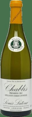 41,95 € Бесплатная доставка | Белое вино Louis Latour 1er Cru Crianza A.O.C. Chablis Premier Cru Франция Chardonnay бутылка 75 cl