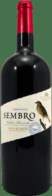 12,95 € Envío gratis | Vino tinto Viñas del Jaro Sembro D.O. Ribera del Duero Castilla y León España Tempranillo Botella Mágnum 1,5 L