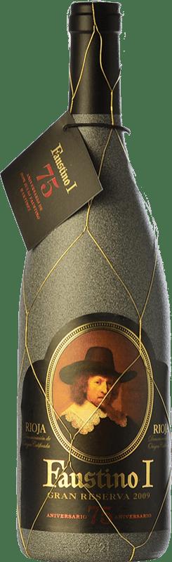 27,95 € Free Shipping | Red wine Faustino I 75 Aniversario Reserva D.O.Ca. Rioja The Rioja Spain Tempranillo, Graciano Bottle 75 cl