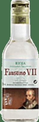 1,95 € Envío gratis | Vino blanco Faustino VII Joven D.O.Ca. Rioja La Rioja España Macabeo Botellín 18 cl