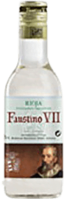 1,95 € Free Shipping | White wine Faustino VII Joven D.O.Ca. Rioja The Rioja Spain Macabeo Small Bottle 18 cl