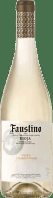 4,95 € Envío gratis | Vino blanco Faustino Joven D.O.Ca. Rioja La Rioja España Viura, Chardonnay Botella 75 cl