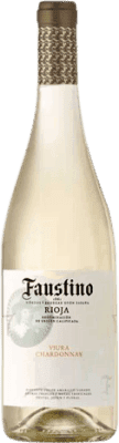 4,95 € Free Shipping | White wine Faustino Joven D.O.Ca. Rioja The Rioja Spain Viura, Chardonnay Bottle 75 cl
