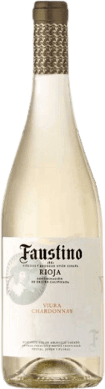 4,95 € Envoi gratuit | Vin blanc Faustino Joven D.O.Ca. Rioja La Rioja Espagne Viura, Chardonnay Bouteille 75 cl