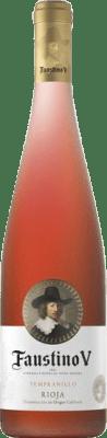 4,95 € Envío gratis | Vino rosado Faustino V Joven D.O.Ca. Rioja La Rioja España Tempranillo, Mazuelo, Cariñena Botella 75 cl