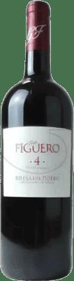 19,95 € Free Shipping | Red wine Figuero 4 Meses Roble D.O. Ribera del Duero Castilla y León Spain Tempranillo Magnum Bottle 1,5 L