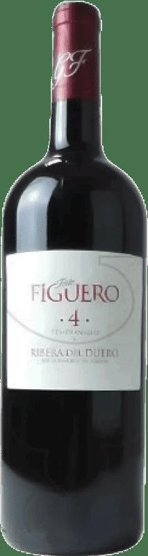 17,95 € Envío gratis | Vino tinto Figuero 4 Meses Roble D.O. Ribera del Duero Castilla y León España Tempranillo Botella Mágnum 1,5 L
