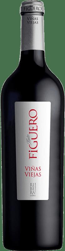 25,95 € Envío gratis | Vino tinto Figuero Viñas Viejas D.O. Ribera del Duero Castilla y León España Tempranillo Botella 75 cl