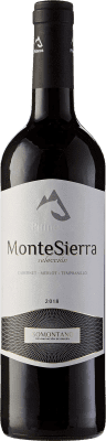 5,95 € Free Shipping | Red wine Pirineos Montesierra Selección Joven D.O. Somontano Aragon Spain Tempranillo, Merlot, Cabernet Sauvignon Bottle 75 cl