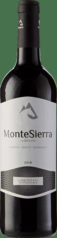 4,95 € Free Shipping | Red wine Pirineos Montesierra Selección Joven D.O. Somontano Aragon Spain Tempranillo, Merlot, Cabernet Sauvignon Bottle 75 cl