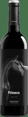 6,95 € Free Shipping | Red wine Pirineos Crianza D.O. Somontano Aragon Spain Merlot, Syrah Bottle 75 cl