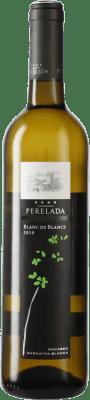 5,95 € Free Shipping | White wine Perelada Blanc de Blancs Joven D.O. Catalunya Catalonia Spain Grenache White, Macabeo, Chardonnay, Sauvignon White Bottle 75 cl